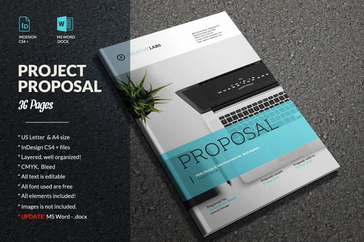 Free Proposal Templates for Word Lovely Proposal Business Brochure Brochure Templates Creative