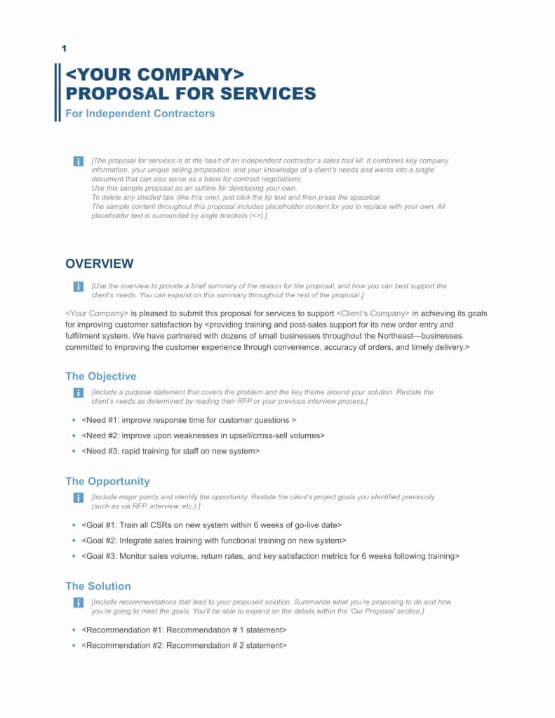 Free Proposal Templates for Word New Download A Free Business Proposal Template formfactory