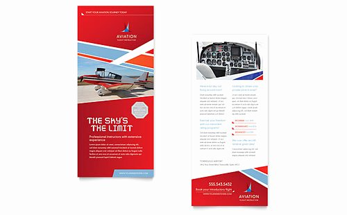 Free Rack Card Templates Awesome Aviation Flight Instructor Rack Card Template