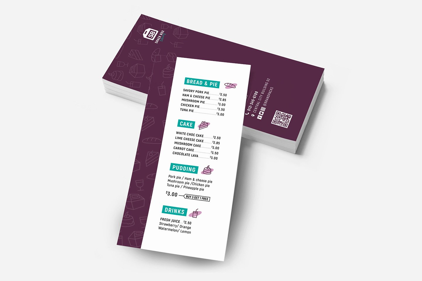 Free Rack Card Templates Lovely Free Dl Menu Rack Card Template In Psd Ai & Vector