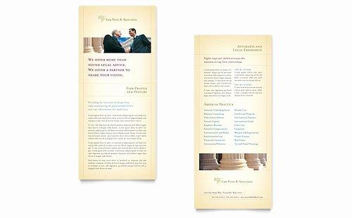 Free Rack Card Templates Luxury Free Rack Card Template Microsoft Word & Publisher