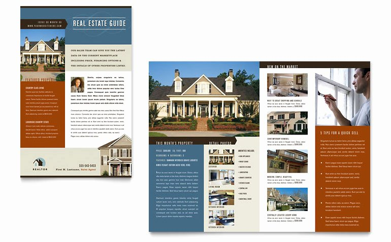 Free Real Estate Newsletter Templates Beautiful Residential Realtor Newsletter Template Word & Publisher