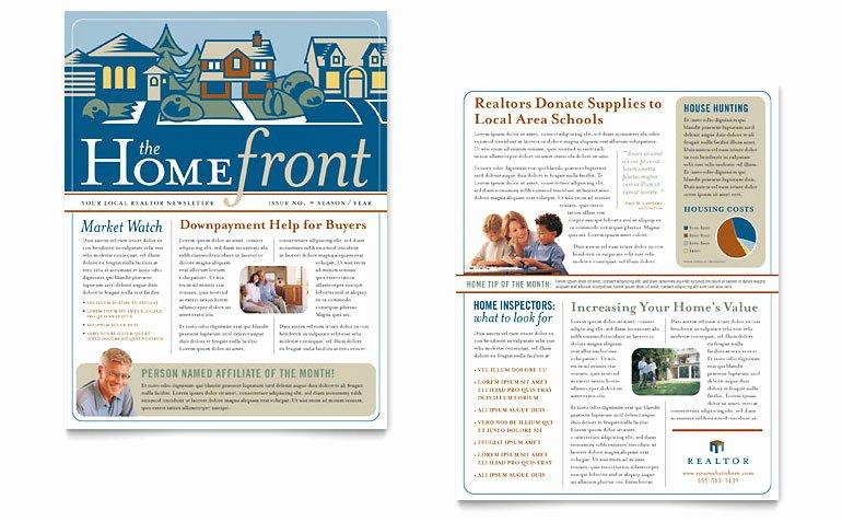 Free Real Estate Newsletter Templates Elegant Real Estate Agent Newsletter Template Word & Publisher