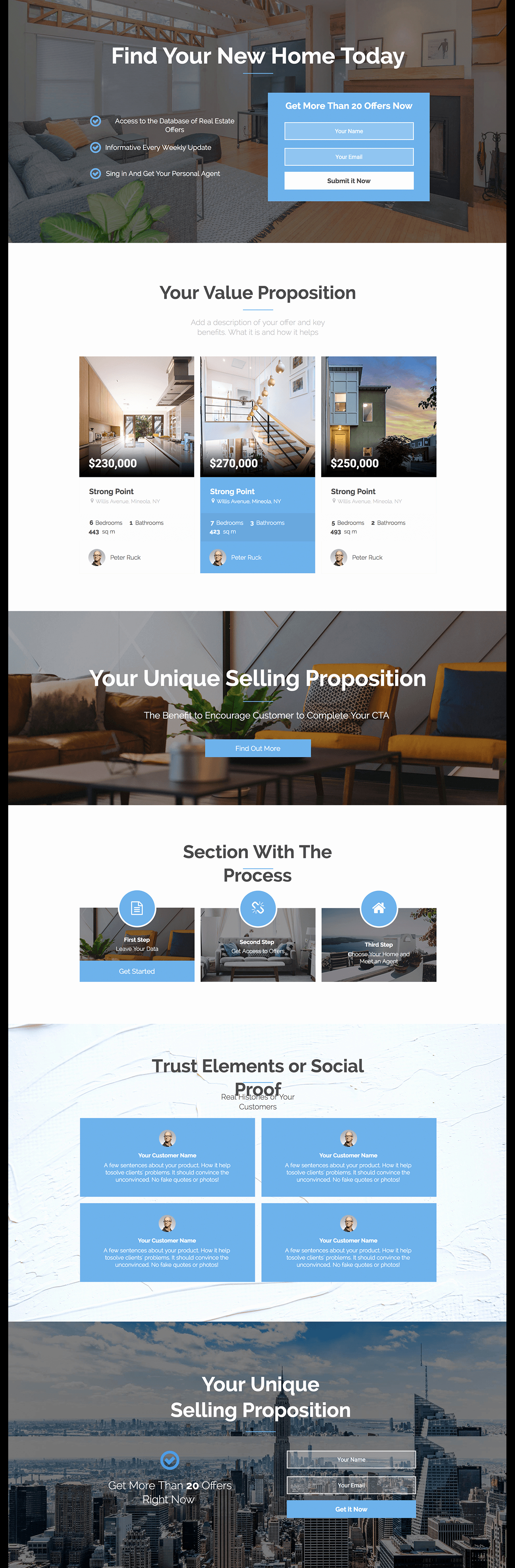 Free Real Estate Newsletter Templates Elegant Real Estate Newsletter Landing Page Template