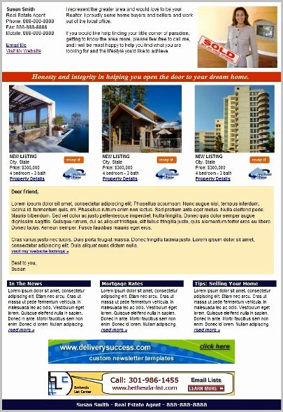 Free Real Estate Newsletter Templates Fresh Real Estate Newsletter Templates for $10 00