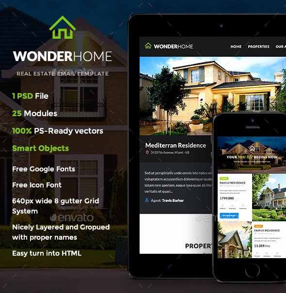 Free Real Estate Newsletter Templates Fresh Wonderhome Real Estate E Newsletter Template by