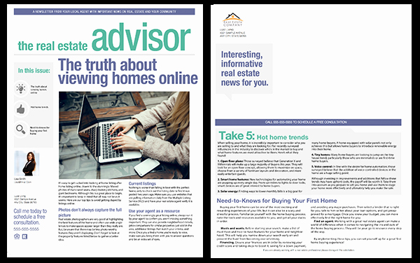 Free Real Estate Newsletter Templates Inspirational Real Estate Newsletters