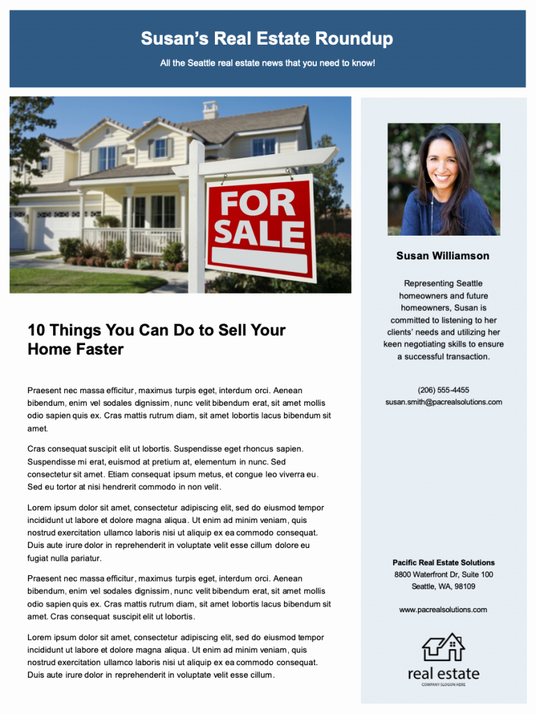 Free Real Estate Newsletter Templates Luxury 12 Real Estate Newsletter Tips Free Templates