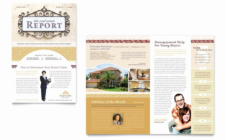 Free Real Estate Newsletter Templates Luxury Luxury Real Estate Newsletter Template Word & Publisher