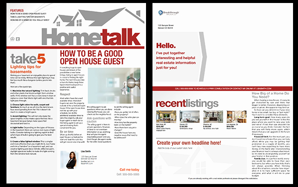 Free Real Estate Newsletter Templates New Real Estate Newsletters