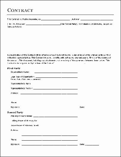 Free Remodeling Contract Template New Free Printable Home Improvement Contract form Generic