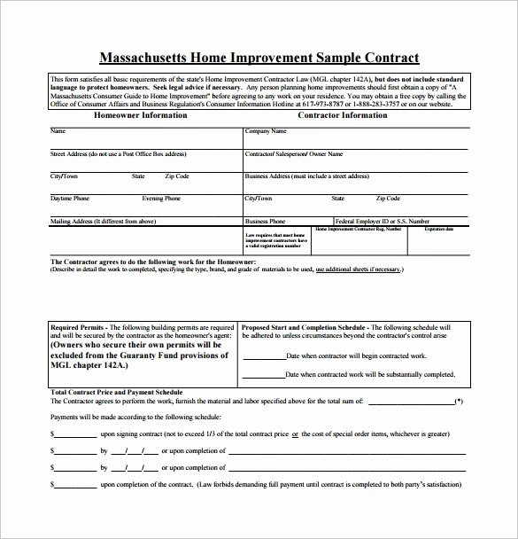 Free Remodeling Contract Template Unique 9 Home Remodeling Contract Templates Word Pages Docs
