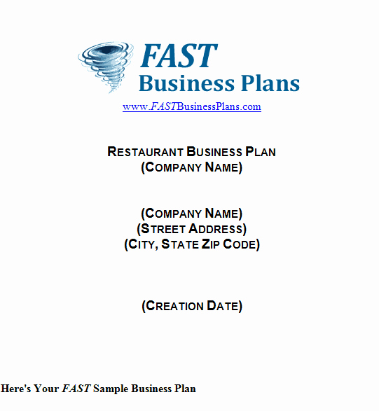 Free Restaurant Business Plan Template Fresh 32 Free Restaurant Business Plan Templates In Word Excel Pdf