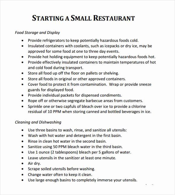 Free Restaurant Business Plan Template Lovely 32 Free Restaurant Business Plan Templates In Word Excel Pdf