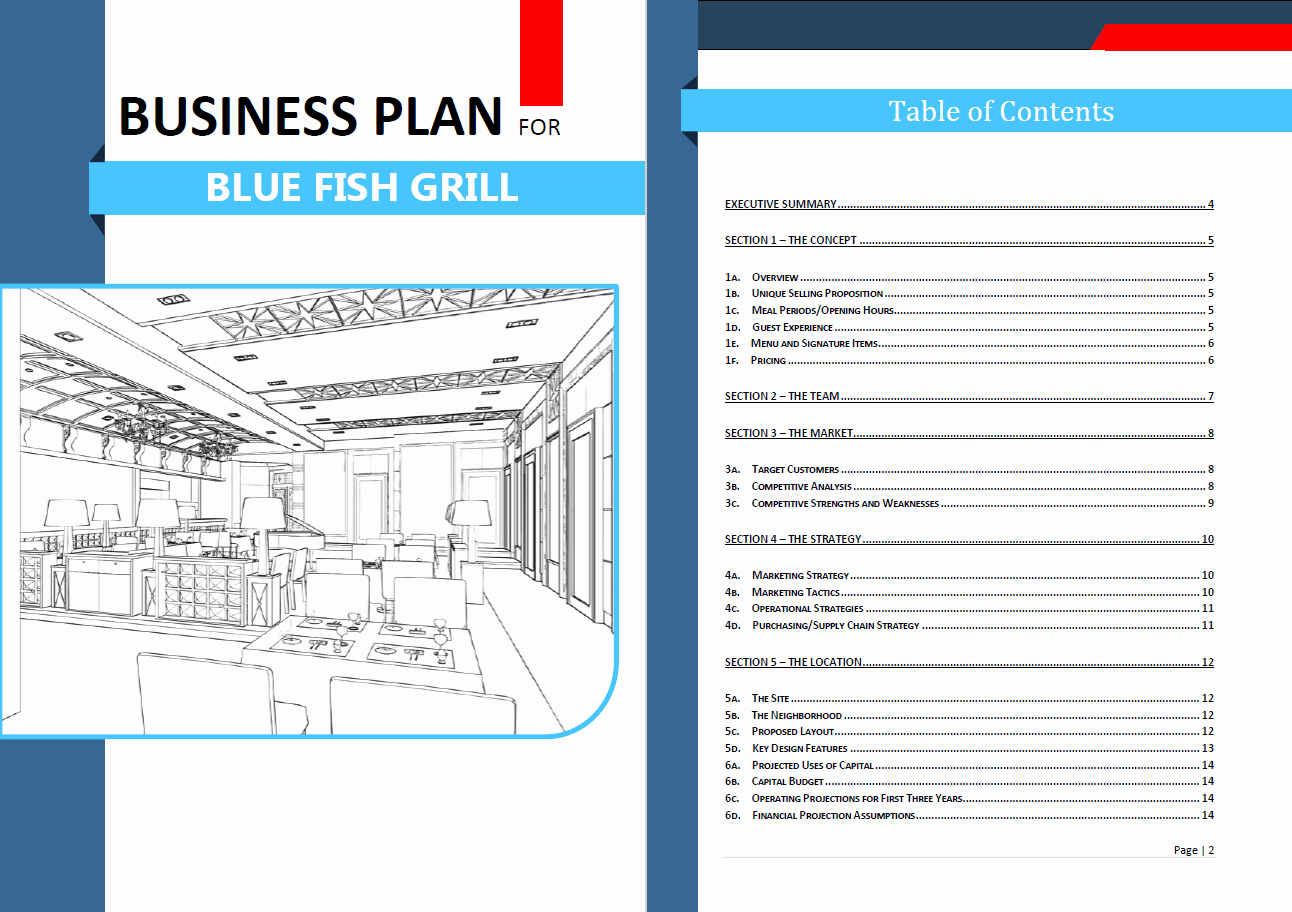 Free Restaurant Business Plan Template Unique New Business Plan Template – Free Business Plan Template