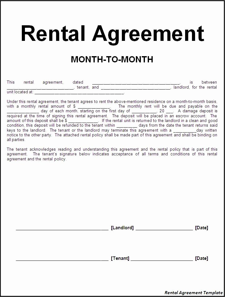 Free Room Rental Agreement Template Awesome Printable Sample Rental Lease Agreement Templates Free