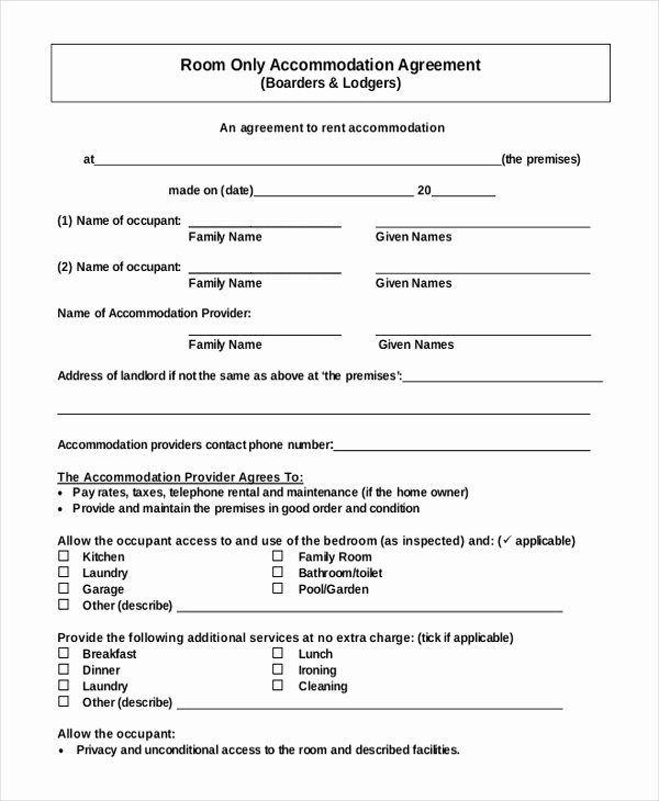 Free Room Rental Agreement Template Elegant 14 Room Rental Agreement Templates Free Downloadable