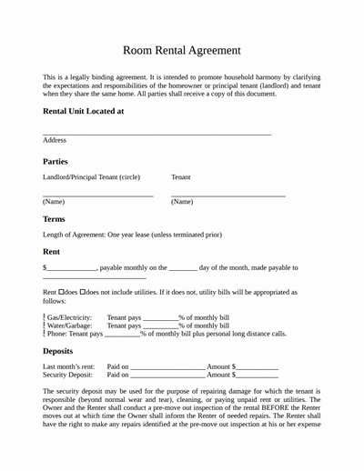 Free Room Rental Agreement Template Elegant Sample Tenancy Agreement Landlord and Tenant