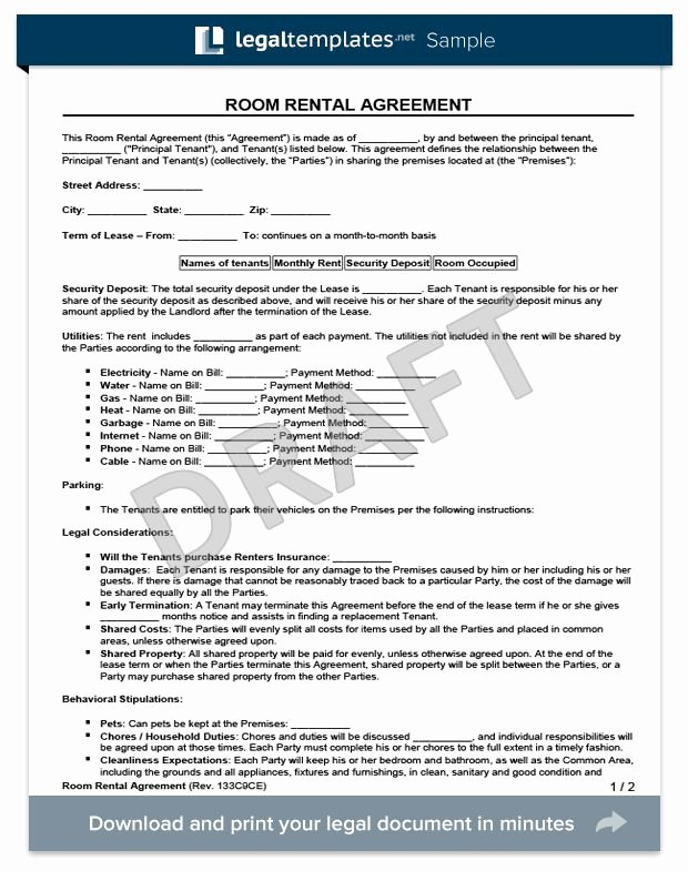 Free Room Rental Agreement Template Inspirational Best 25 Room Rental Agreement Ideas On Pinterest