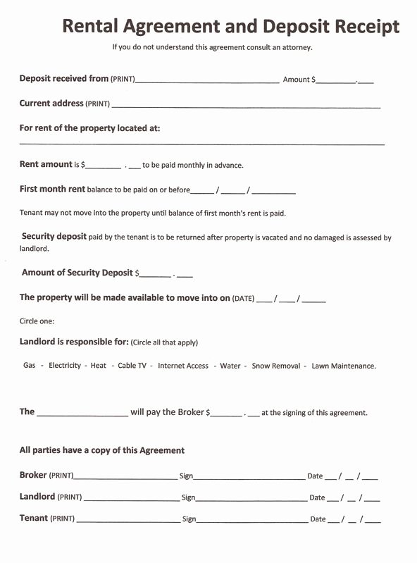Free Room Rental Agreement Template Lovely Free Rental forms to Print