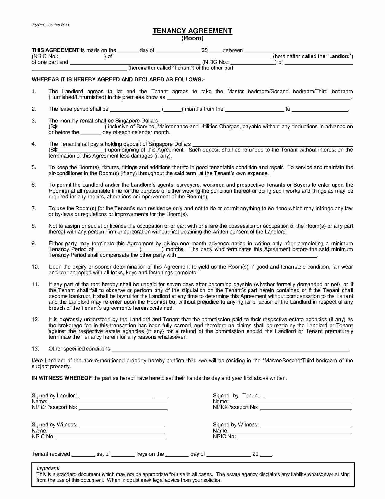 Free Room Rental Agreement Template Unique Download Room Rental Agreement Style 1 Template for Free