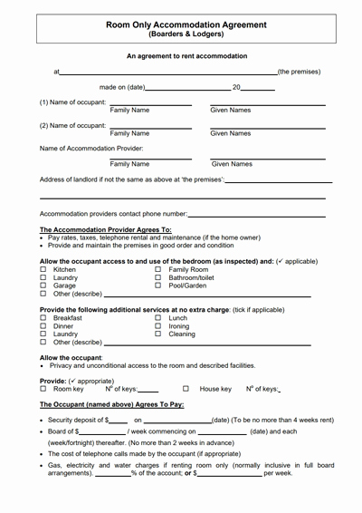 Free Room Rental Agreement Template Unique Room Rental Agreement Template Free Download Create