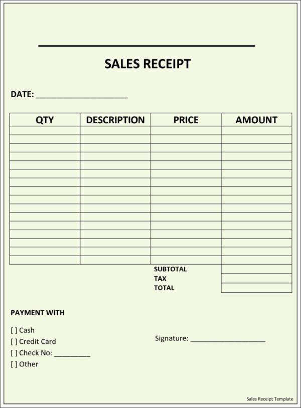 Free Sale Receipt Template Beautiful 11 Sales Receipt Samples & Templates Psd Pdf format