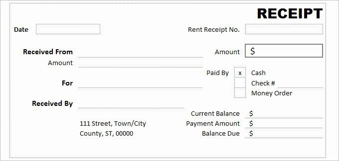 Free Sale Receipt Template Best Of Receipt Template Excel