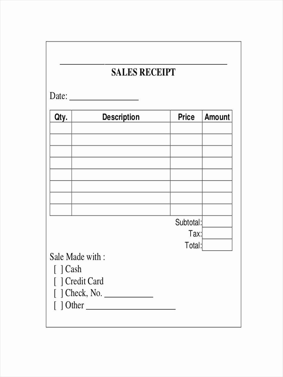 Free Sale Receipt Template Elegant Free 12 Sales Receipt Examples & Samples In Google Docs