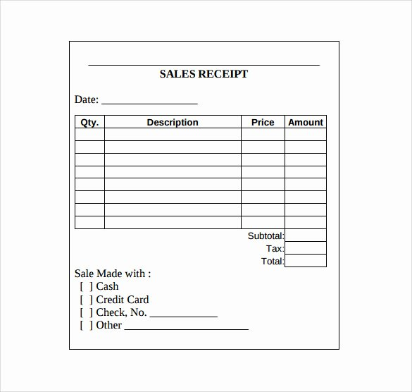 Free Sale Receipt Template New Sales Receipt Template 10 Download Free Documents In