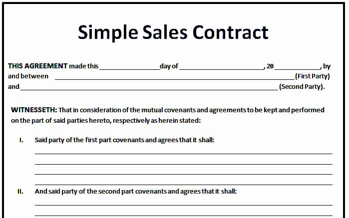 Free Sales Agreement Template Awesome 6 Sales Agreement Templates Excel Pdf formats