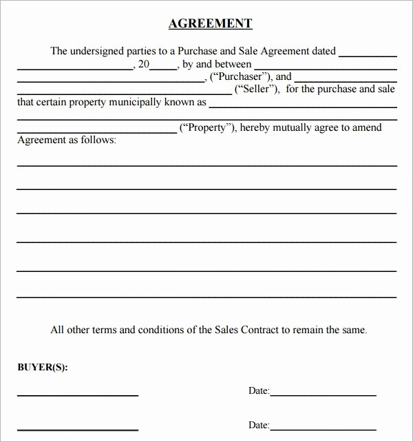 Free Sales Agreement Template Awesome Purchase Agreement 15 Download Free Documents In Pdf Word