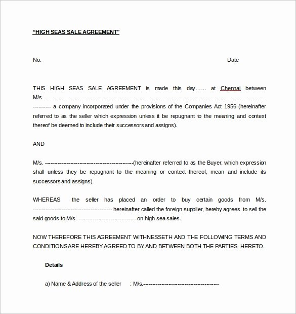 Free Sales Agreement Template Best Of Free 17 Sample Downloadable Sales Agreement Templates In