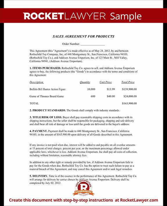 Free Sales Agreement Template Luxury Sales Agreement Contract Template Free Sale Agreement form