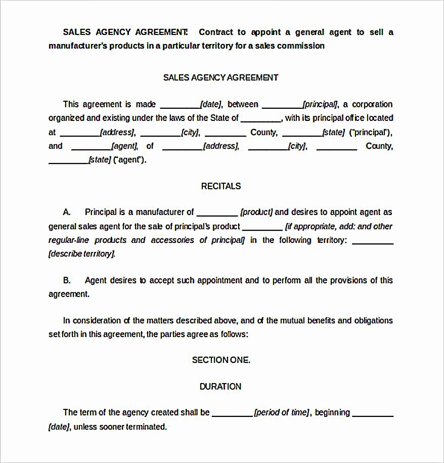 Free Sales Agreement Template Unique Reliable Sales Agreement Template for Free to Copy