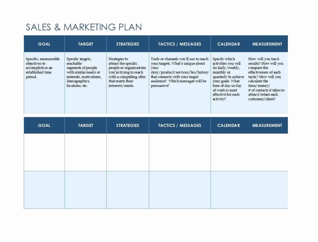Free Strategy Plan Template Elegant 32 Sales Plan & Sales Strategy Templates [word & Excel]