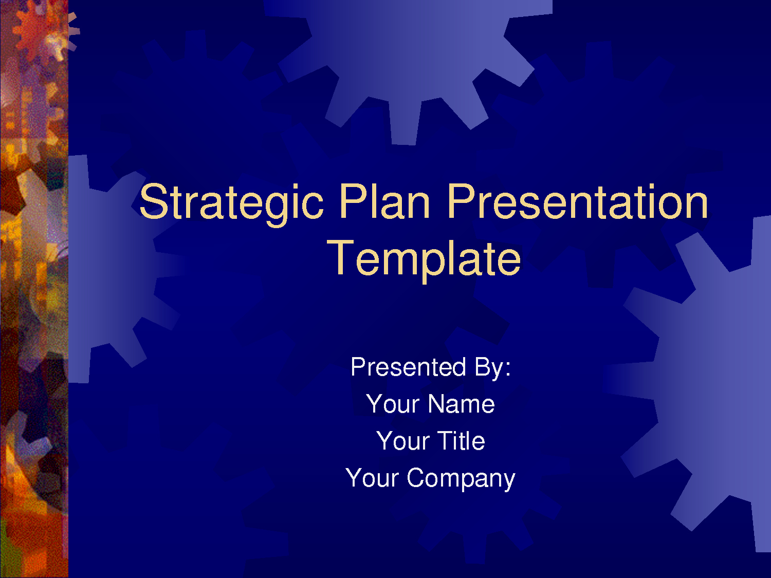 Free Strategy Plan Template New Strategic Plan Powerpoint Templates Business Plan