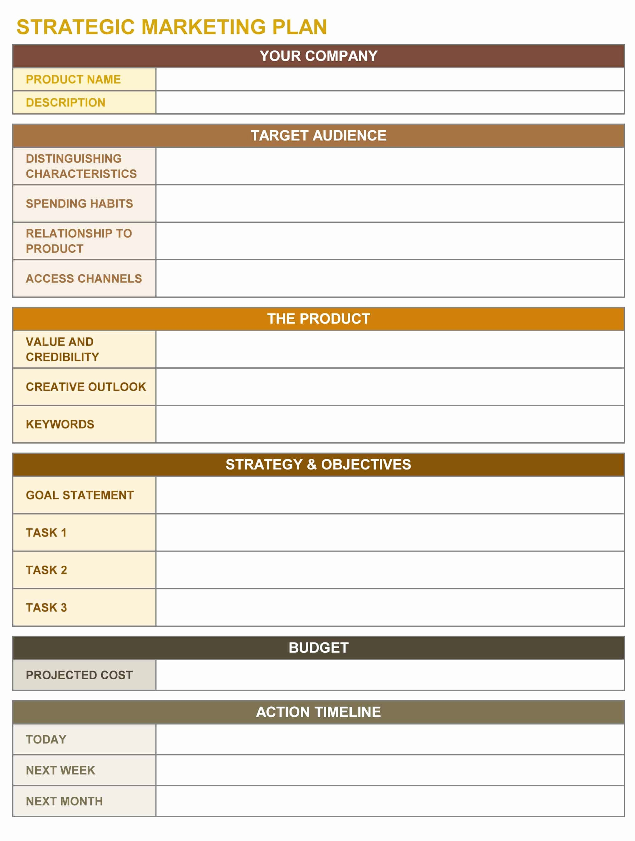 Free Strategy Plan Template Unique 9 Free Strategic Planning Templates Smartsheet