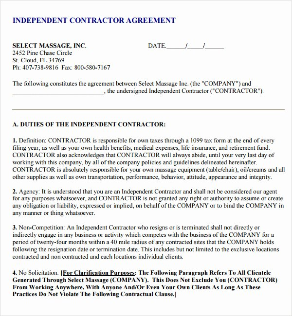 Free Subcontractor Agreement Template Lovely Subcontractor Agreement Template