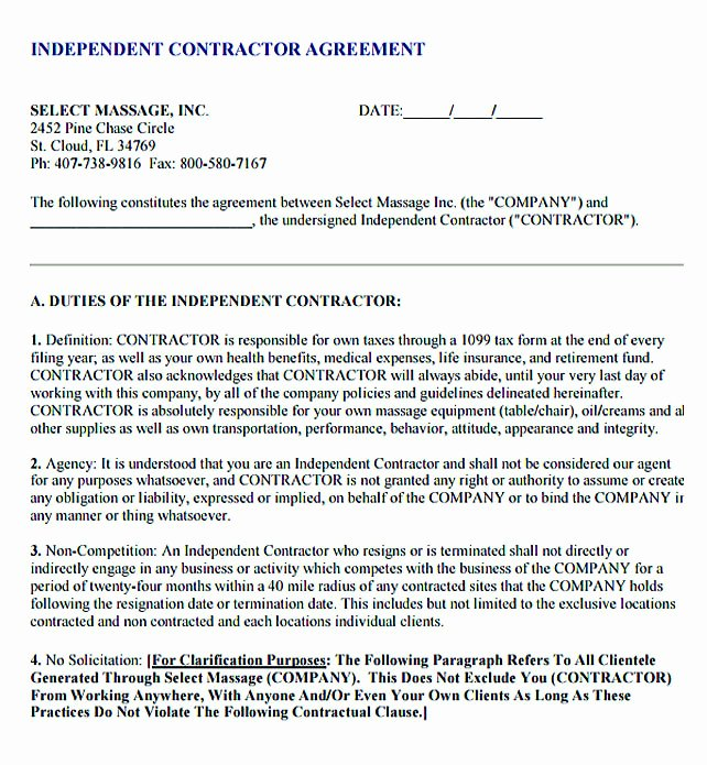 Free Subcontractor Agreement Template Luxury 11 Subcontractor Agreement Template for Successful