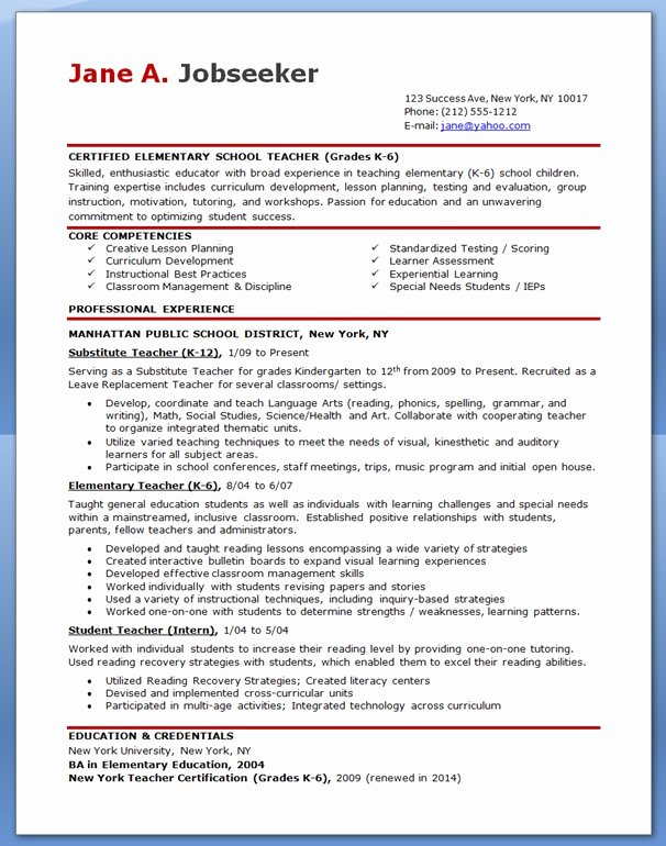 Free Teacher Resume Templates Elegant Free Professional Resume Templates Download
