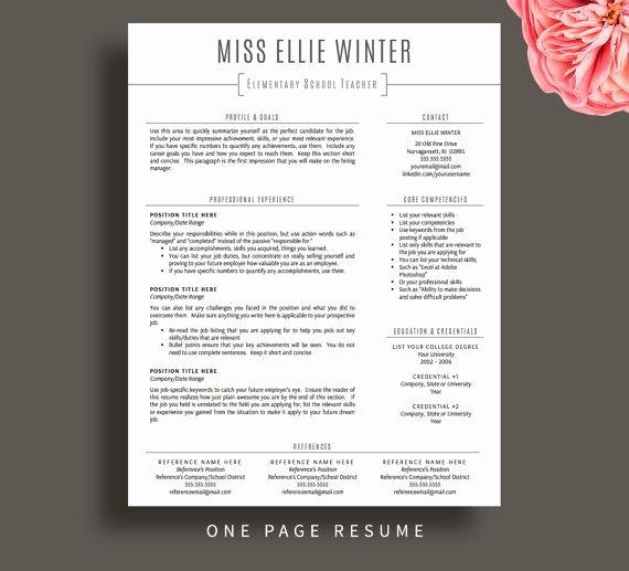 Free Teacher Resume Templates Inspirational Teacher Resume Template for Word & Pages Resume Cover