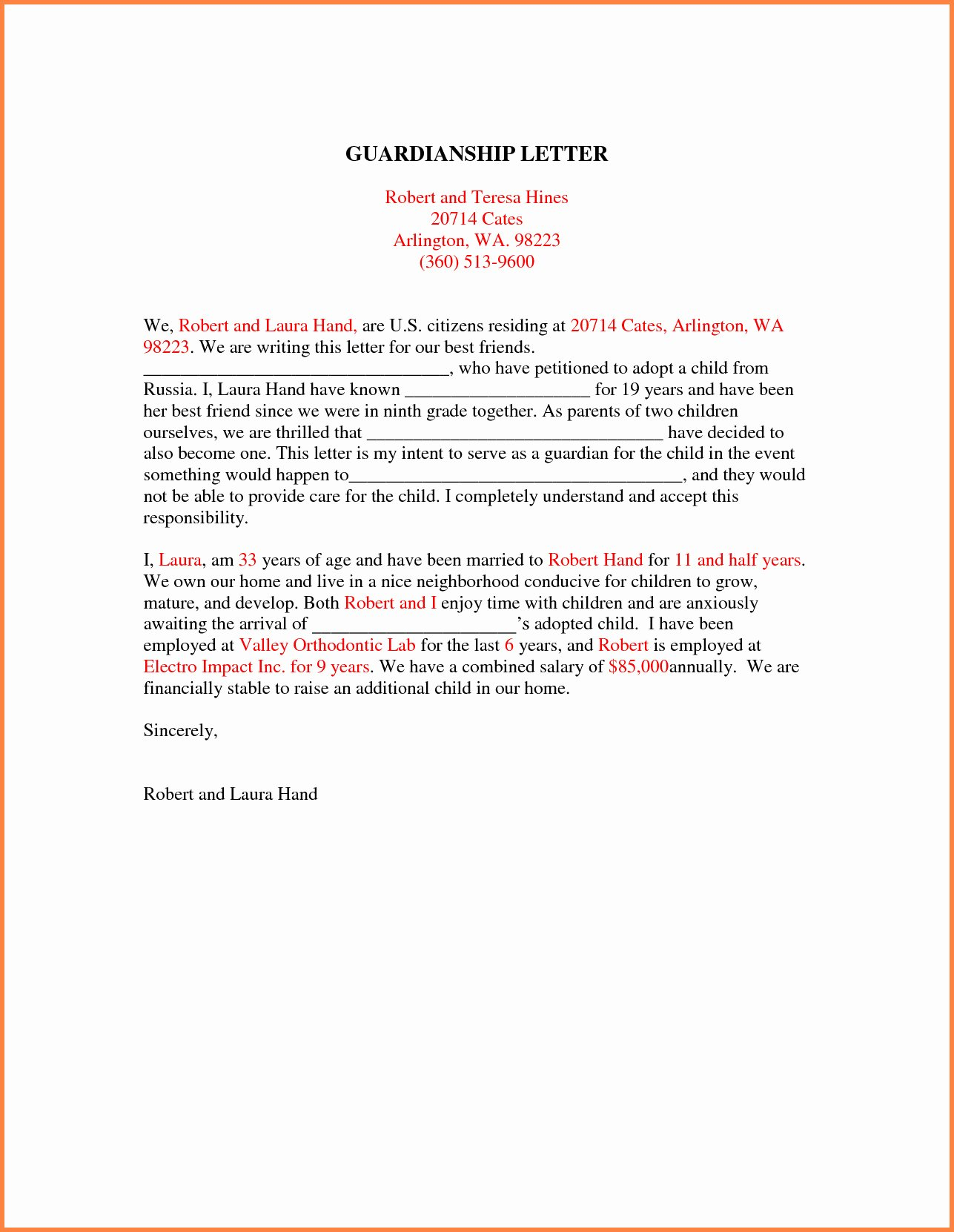 Free Temporary Guardianship form Template Lovely Temporary Guardianship Letter Template Samples