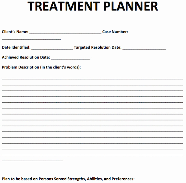 Free therapy Notes Template New Treatment Planner Template