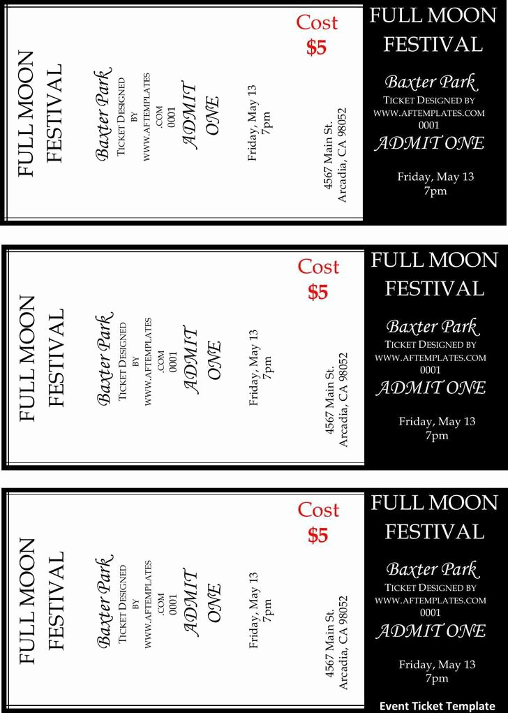 Free Ticket Template Word Awesome 81 Ticket Templates Free Download