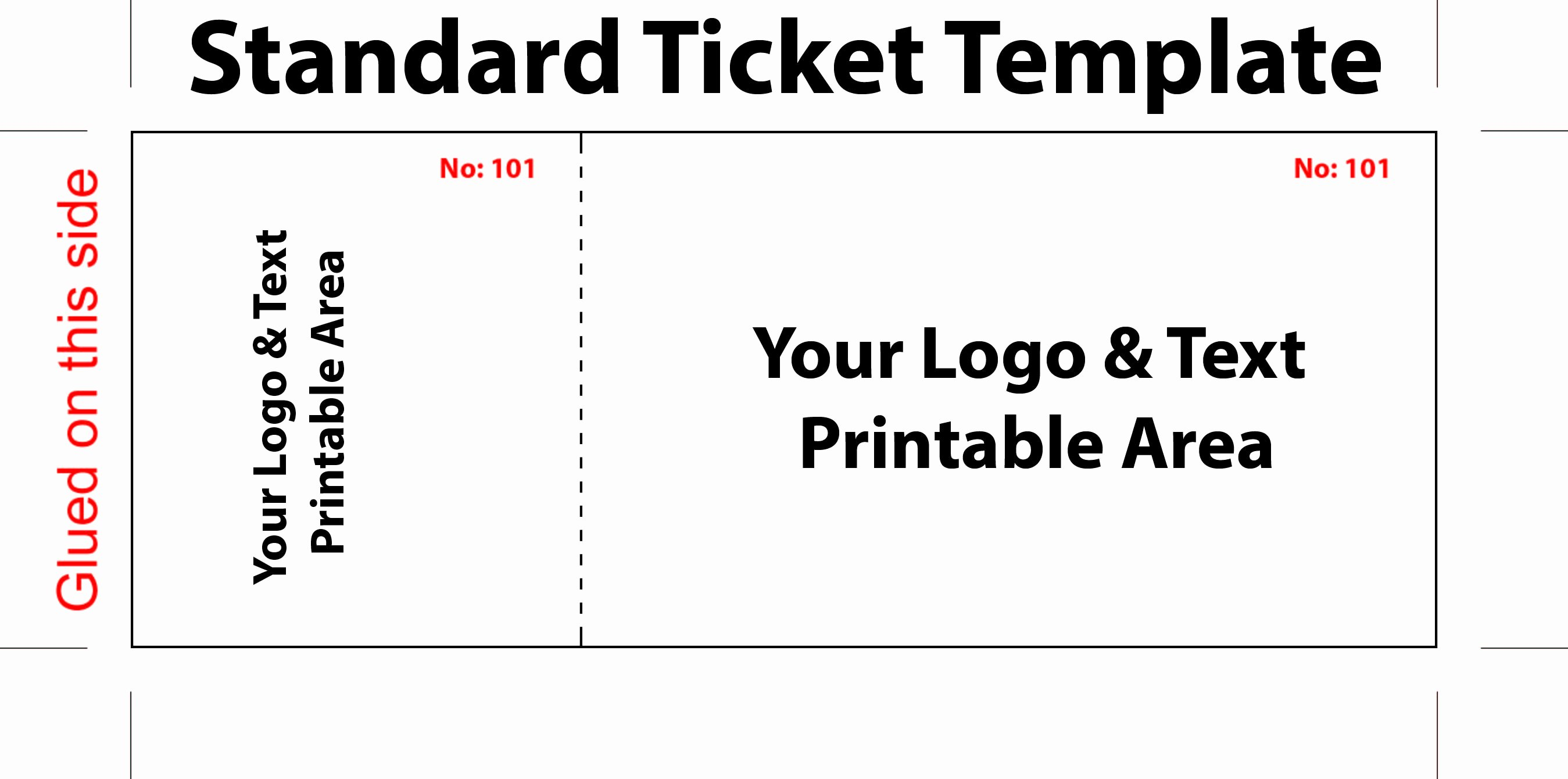 Free Ticket Template Word Beautiful Free Editable Standard Ticket Template Example for Concert