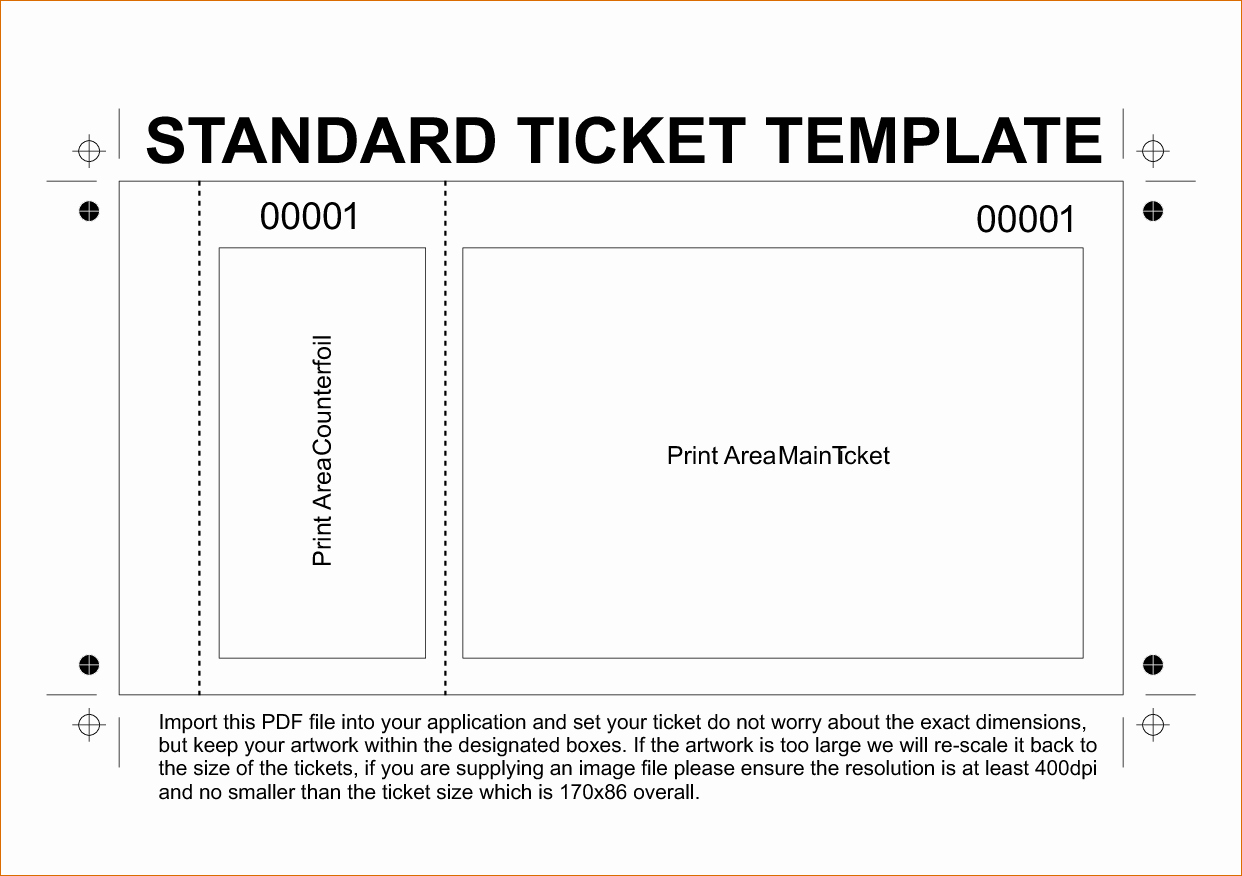 Free Ticket Template Word Beautiful Ticket Template Word