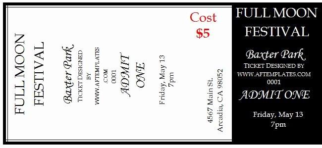 Free Ticket Template Word Inspirational 41 Free Editable Raffle & Movie Ticket Templates Free