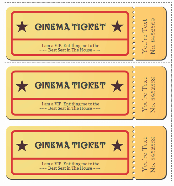 Free Ticket Template Word Luxury 6 Movie Ticket Templates to Design Customized Tickets