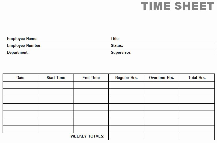 Free Time Card Template Elegant Printable Blank Pdf Time Card Time Sheets